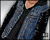Denim Leather Jacket