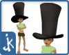 Black suede Hatters Hat