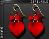 0 | Heart & Bow Earrings