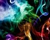 Картинки Абстракция, дым, цветной, разноцветный, клубки обои, фото.