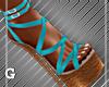 Island Teal Sandals
