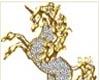 Gold n Silver Unicorn