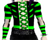 A Green Corset/black