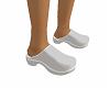 Clogs , Nurse 's White