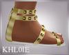 K gold greek sandals