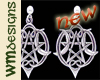 WM Moon Pentacle Earrngs