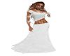 White Velvet Long Skirt