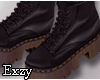 E! Black Combat  Boots.