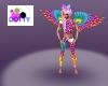 Rainbow dot leggings
