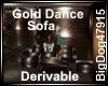 [BD] Gold Dance Sofa