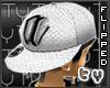 [TY] Tilted A Wht Cap