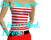 Lizzy Med. Dress-Red/wt