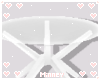 ♡ White small table