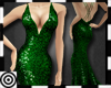 *m Green Sequin Gown