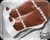 ! White Gems Heels