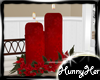 Xmas Poinsettia Candles