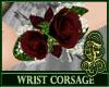 Wrist Corsage Burgundy