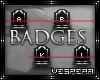 -V-ABC's Of Death Badges