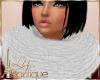 {l} winter scarf white