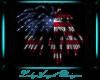 4th July Fierworks Flag