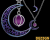 Galaxy Moon Necklace S