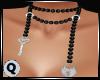 Pearls Black Lock & Key