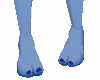 *2 toes blue feet