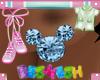 Mickey Aqamarine Earring