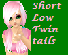 SHORT Low Pink Twintails