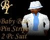 White/ Baby Blue Pin Str