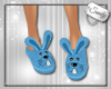 Cute Bunny Slippers Blue