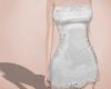 Slip dress, white.