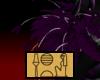 Purp/Silv Shoulder Feath