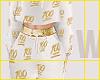 100 Emoji Joggers WhtGld