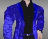 Blue Velvet Casual Coat
