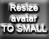 Resize Avatar To SMALL