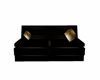 Blk-Gld Sofa Poseless