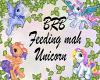 BRB Sign Unicorn