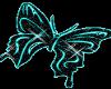 Aqua Glitter Butterfly