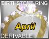 Birthstone Ring April