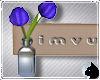 !Flower vase sign blue