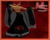 [M] Rose Shawl - Black