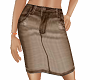TF* Taupe Jean Skirt