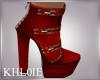 K bec red booties