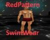 [BD]RedPatternSwimWear
