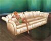 Cream silk couch
