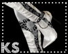 {K} Black/Silver Stilett