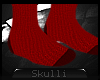 s s Knitted socks. red