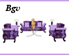 Purple Furniture Set