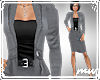 !Peplum Suit Gray